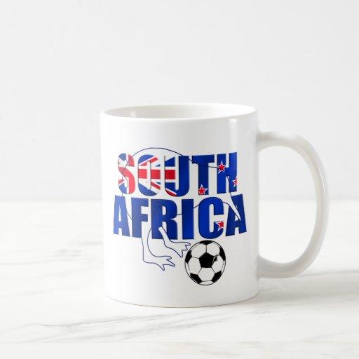 Regalos del fútbol de Suráfrica de la bandera de N Tazas