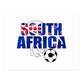 Regalos del fútbol de Suráfrica de la bandera de Postal