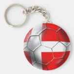 Regalos del fútbol de Vikingos Dinamarca del danés Llavero Redondo Tipo Pin