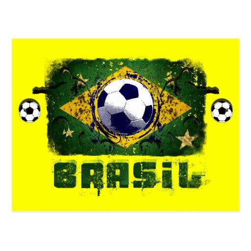 Regalos del fútbol del Brasil de los jugadores de  Postales