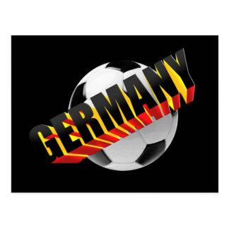 Regalos del fútbol del logotipo de la bola 3D de Postales