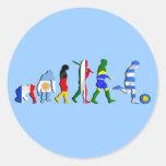 Regalos del futboll de la evolución del fútbol del pegatina redonda
