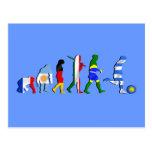 Regalos del futboll de la evolución del fútbol del tarjeta postal