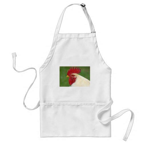Regalos del gallo del país del peine del gallo roj delantales