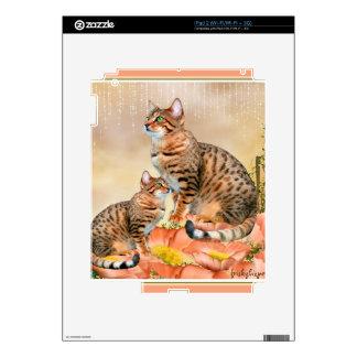 Regalos del gato de Bengala Calcomanía Para El iPad 2