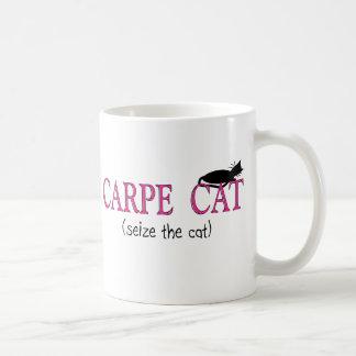 Regalos del gato de Carpe (agarre el gato) Tazas De Café
