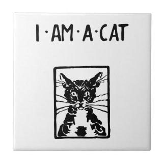 Regalos del gato negro azulejo cuadrado pequeño