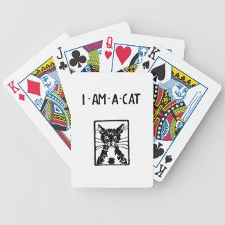 Regalos del gato negro baraja cartas de poker