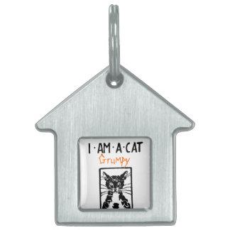 Regalos del gato negro placas mascota