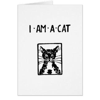 Regalos del gato negro tarjeta de felicitación