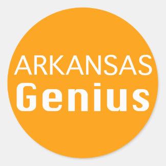 Regalos del genio de Arkansas Pegatina Redonda