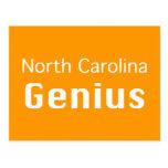 Regalos del genio de Carolina del Norte Postales