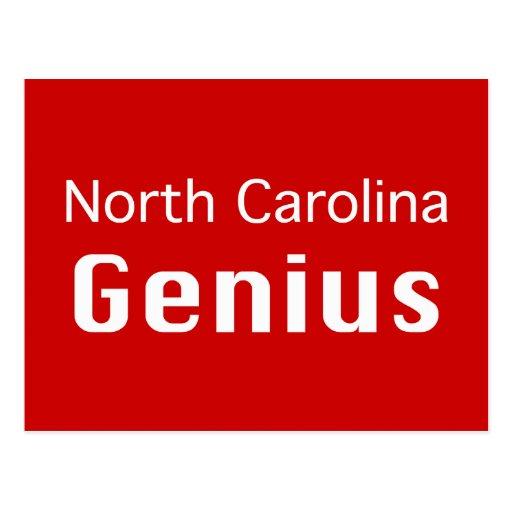 Regalos del genio de Carolina del Norte Tarjeta Postal