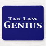 Regalos del genio de la legislación fiscal alfombrilla de ratón