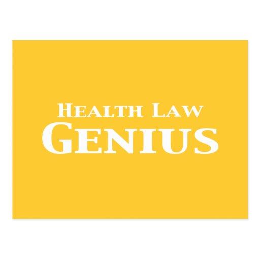 Regalos del genio de la ley de la salud postal