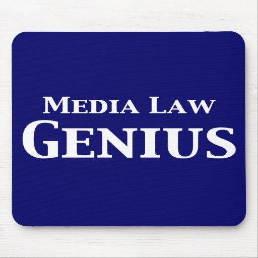 Regalos del genio de la ley de los medios tapete de ratón