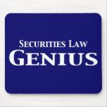 Regalos del genio de la ley de valores tapete de ratones
