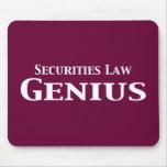 Regalos del genio de la ley de valores alfombrilla de ratón