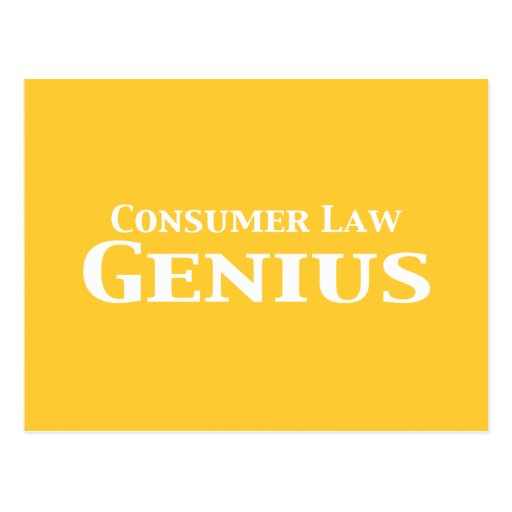 Regalos del genio de la ley del consumidor postal