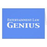 Regalos del genio de la ley del entretenimiento felicitación