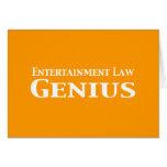 Regalos del genio de la ley del entretenimiento tarjeta