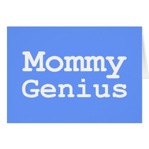 Regalos del genio de la mamá tarjeta de felicitación