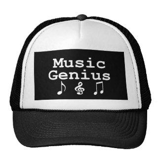 Regalos del genio de la música gorros bordados
