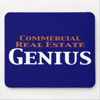 Regalos del genio de la propiedad inmobiliaria com alfombrilla de ratón