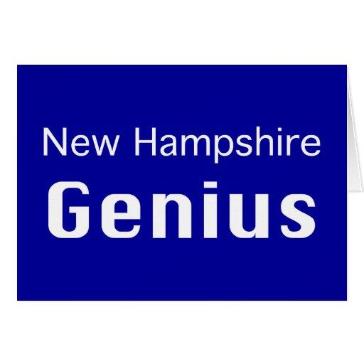 Regalos del genio de New Hampshire Tarjeta De Felicitación