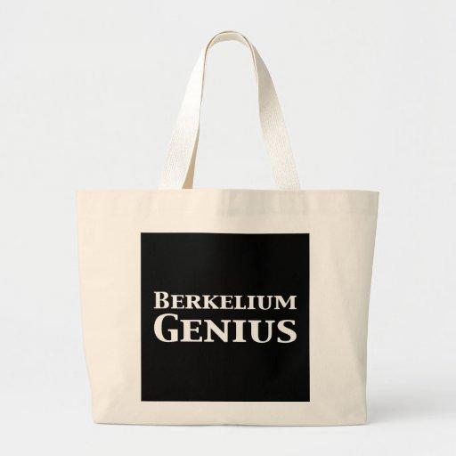 Regalos del genio del berkelio bolsa tela grande