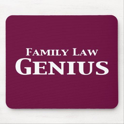 Regalos del genio del derecho de familia mousepads