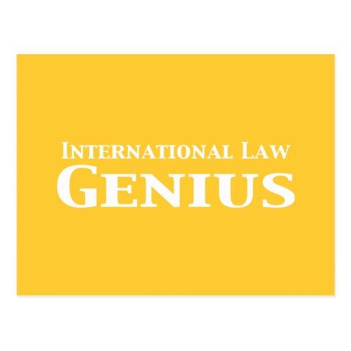 Regalos del genio del derecho internacional postal