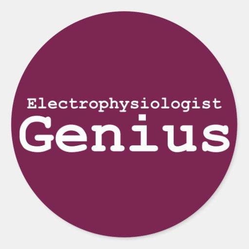Regalos del genio del Electrophysiologist Pegatina Redonda