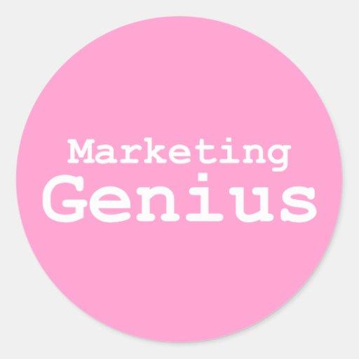 Regalos del genio del márketing pegatina redonda