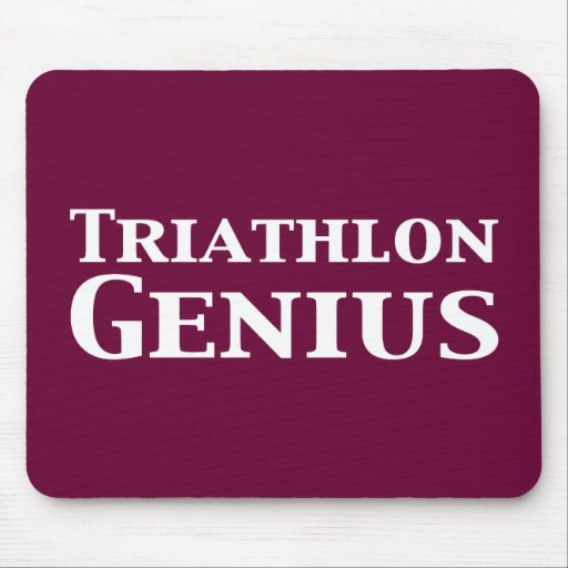 Regalos del genio del Triathlon Mouse Pad