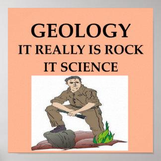 Regalos del geólogo de la GEOLOGÍA Posters