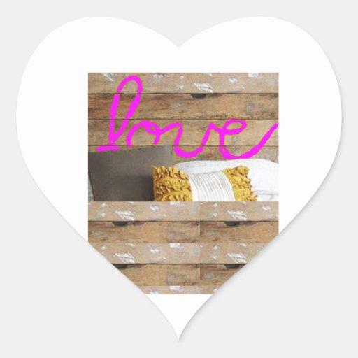 REGALOS del gráfico de la foto del AMOR en Pegatina En Forma De Corazón