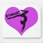 Regalos del Handstand del corazón del gimnasta Alfombrillas De Ratones
