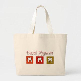 Regalos del higienista dental, diseño de 3 dientes bolsa lienzo