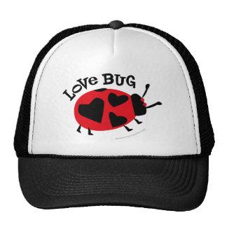 Regalos del insecto del amor gorros bordados