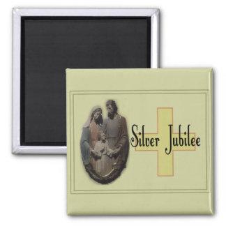 Regalos del jubileo de plata para las monjas imán cuadrado