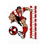 Regalos del jugador de fútbol de los aficionados a postales