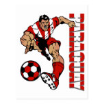 Regalos del jugador de fútbol de los aficionados tarjeta postal