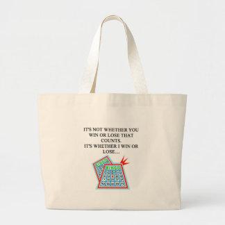 regalos del jugador del bingo bolsas de mano