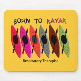Regalos del Kayaker del terapeuta respiratorio Mousepad