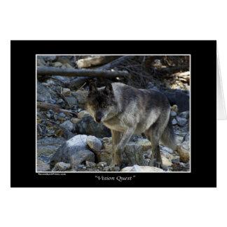Regalos del lobo de la búsqueda de Vision Tarjeta De Felicitación