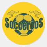 Regalos del logotipo de Roos del fútbol del mundo Etiqueta Redonda