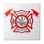 Regalos del logotipo del departamento del fuego de azulejo cerámica