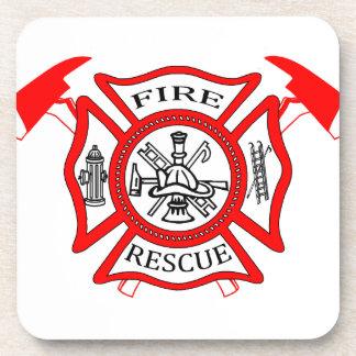 Regalos del logotipo del departamento del fuego de posavaso