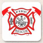 Regalos del logotipo del departamento del fuego de posavasos